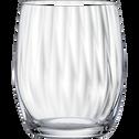Coffret de 6 verres à eau en cristallin-WATERFALL