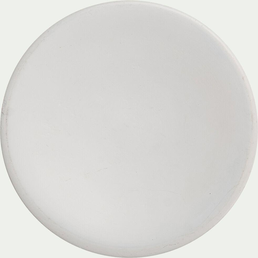 Patère ronde en bois - blanc D8cm-NIWA