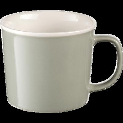 Mug en porcelaine vert olivier 35cl-CAFI