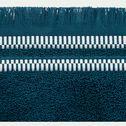 Drap de douche en coton peigné - bleu figuerolles 70x140cm-Garance