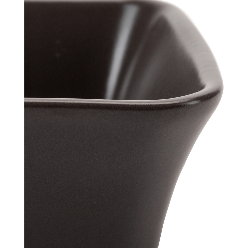 Plat à four rectangulaire en grès brun châtaignier 26x18cm-ALVARA