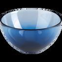 Coupelle en verre bleu D16cm-AURORE
