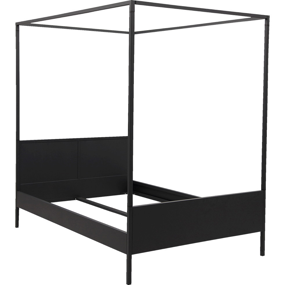 Baldaquin en acier Noir pour lit 2 places Anvers - 140x200 cm-ANVERS