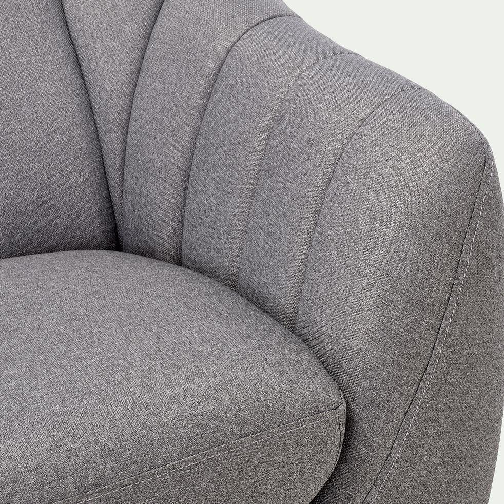 Canapé 3 places fixe en tissu - gris clair-SHELL