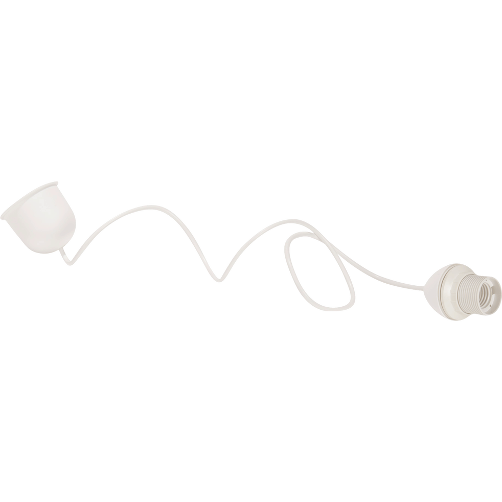 Monture électrique E27 blanc L120cm-Monture