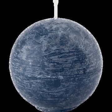 Bougie ronde bleu myrte D6cm-BEJAIA
