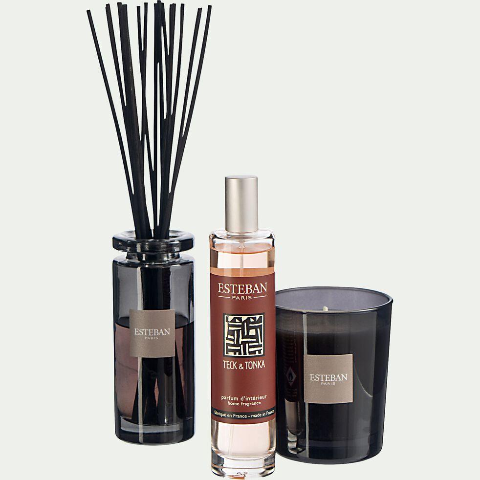 Bouquet parfumé teck et tonka avec recharge - 75ml noir-ESTEBAN