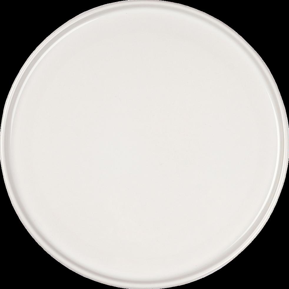 Assiette de présentation en faïence blanc ventoux D30cm-VADIM