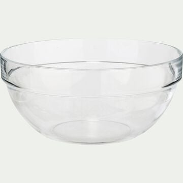 Saladier en verre transparent D14cm-VELLY
