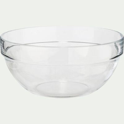 Saladier en verre transparent D14cm-VELLY