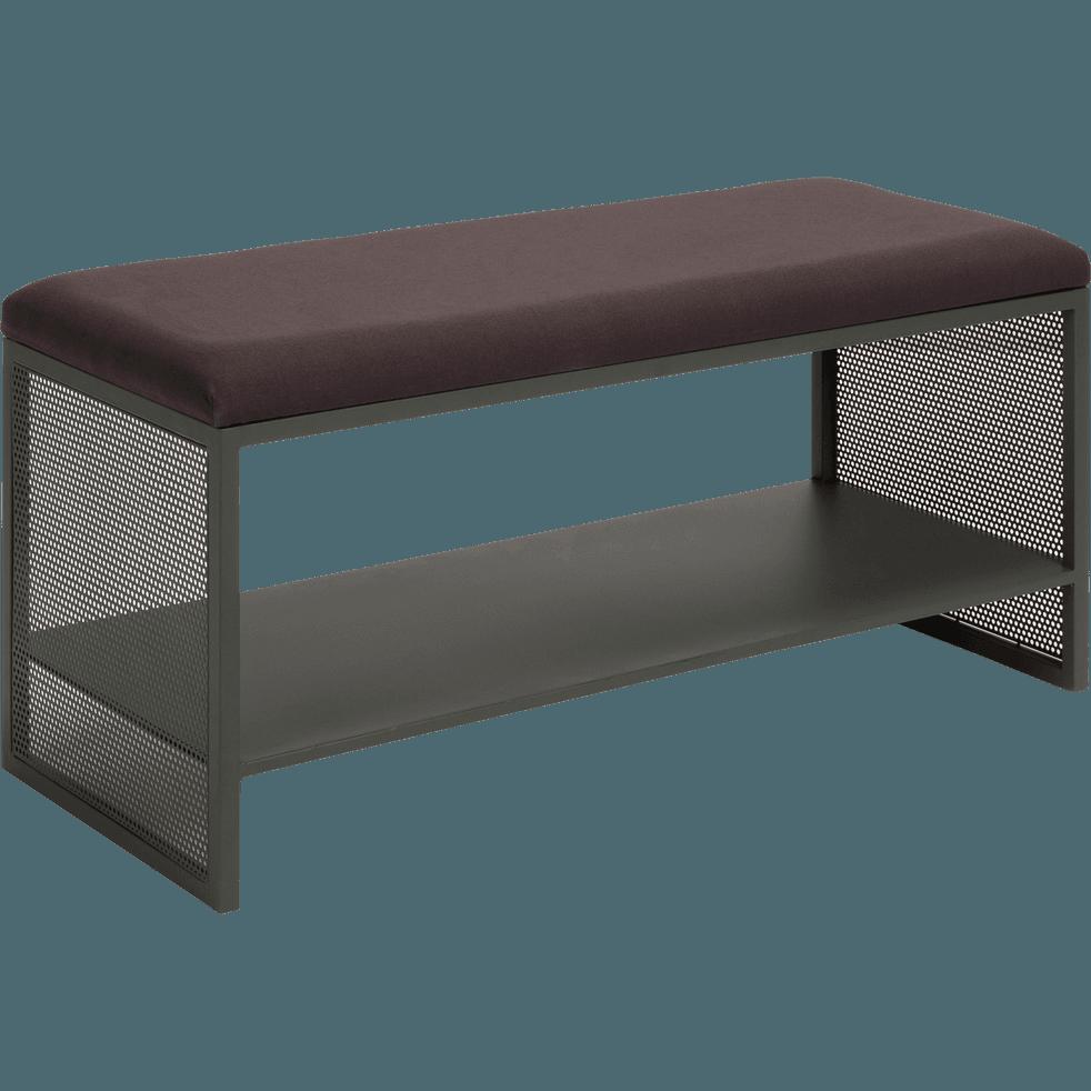 banc d 39 entr e vert c dre en m tal eleno meubles chaussures alinea. Black Bedroom Furniture Sets. Home Design Ideas