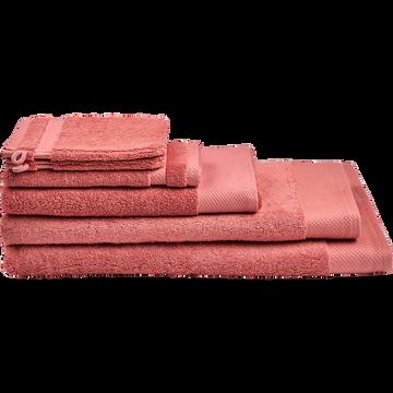 Linge de toilette rouge ricin-AZUR