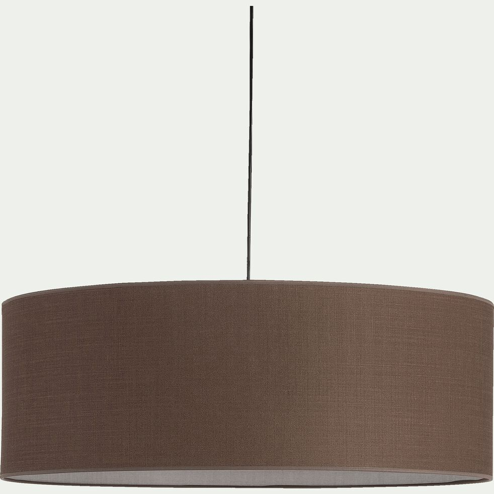 Suspension cylindrique en coton - D75cm brun châtaignier-MISTRAL