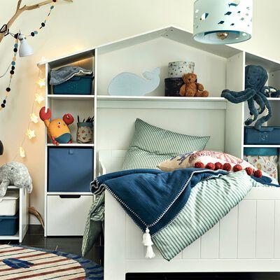 Lit enfant avec tête de lit et rangements-POLLUX