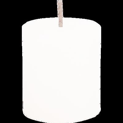 Bougie votive coloris blanc capelan H4,5cm-BEJAIA