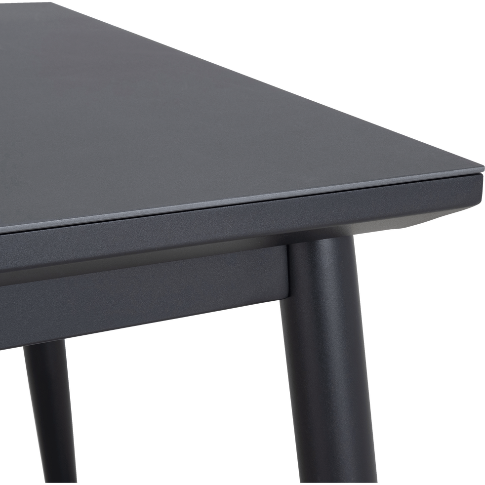BONIFACIO - Table de jardin extensible en aluminium noir (6 à 10 places)