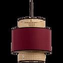 Abat-jour rouge sumac D30cm-MARKO