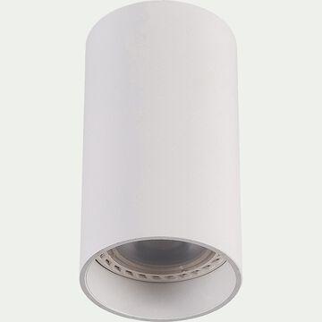 Spot LED fixe rond en aluminium H10xD5,5cm - blanc-DELTO