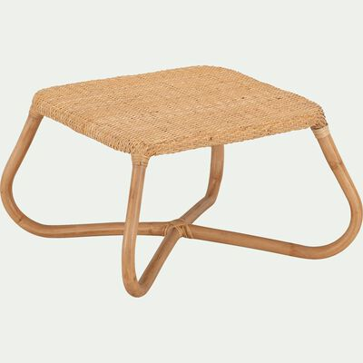 Table basse de jardin en rotin naturel-GERA