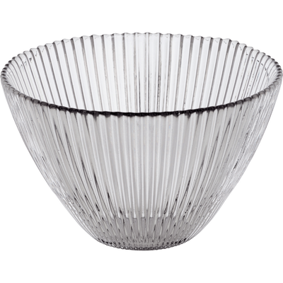 Coupelle en verre strié gris clair D14.5cm-SUPERBE