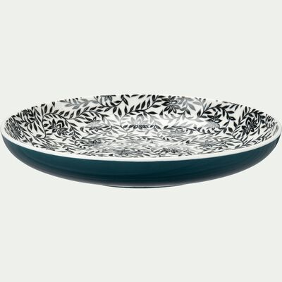 Assiette à dessert en porcelaine motifs jasmin - bleu d20,8cm-AIX