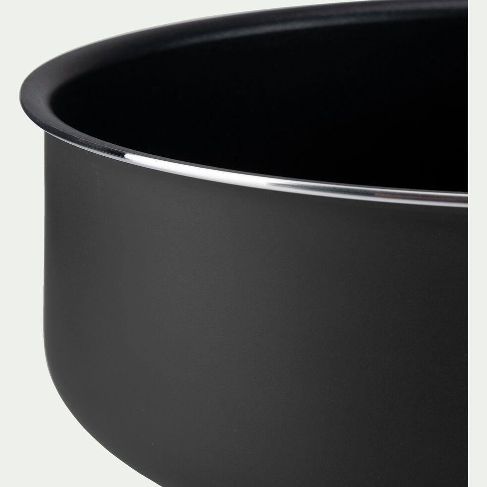 Casserole en aluminium noir D20cm-SOU