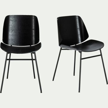 Chaise en bois - noir-CORDOBA