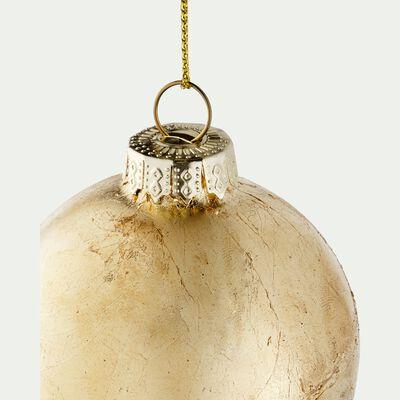 Boule de Noël en verre - Doré - D6cm-CHANDRA
