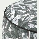 Pouf de jardin en tissu motif végétal - vert D53cm-Caprice