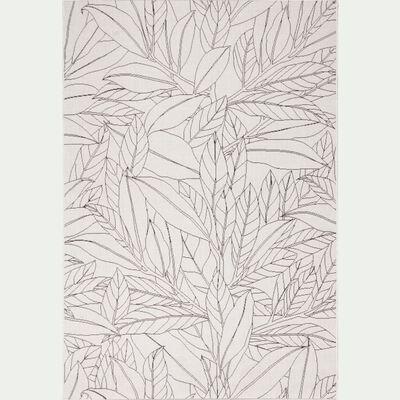 Tapis rectangulaire motifs laurier 120x170 cm-LAURIER