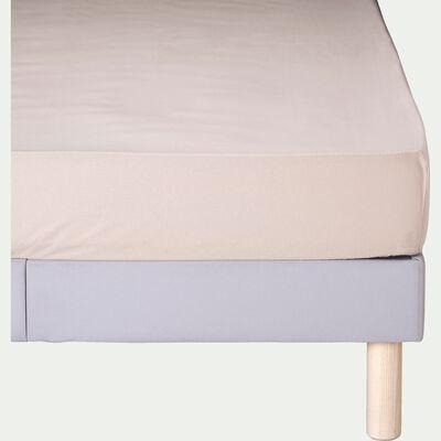 Drap housse en coton - beige alpilles 90x200cm B25cm-CALANQUES
