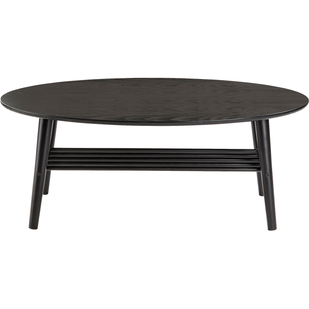table basse ovale en bois noir surf tables basses alinea. Black Bedroom Furniture Sets. Home Design Ideas