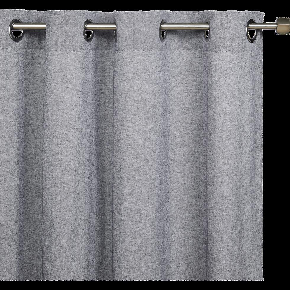Rideau chambray gris restanque 140x250cm-CORBIERE