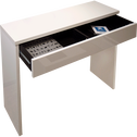 Console blanche laquée L109cm-LEA