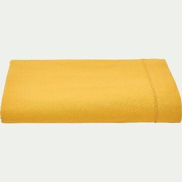 Drap plat en coton - jaune genet 180x290cm-CALANQUES