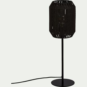 Lampe à poser en métal H52,5cm - noir-CAMPA