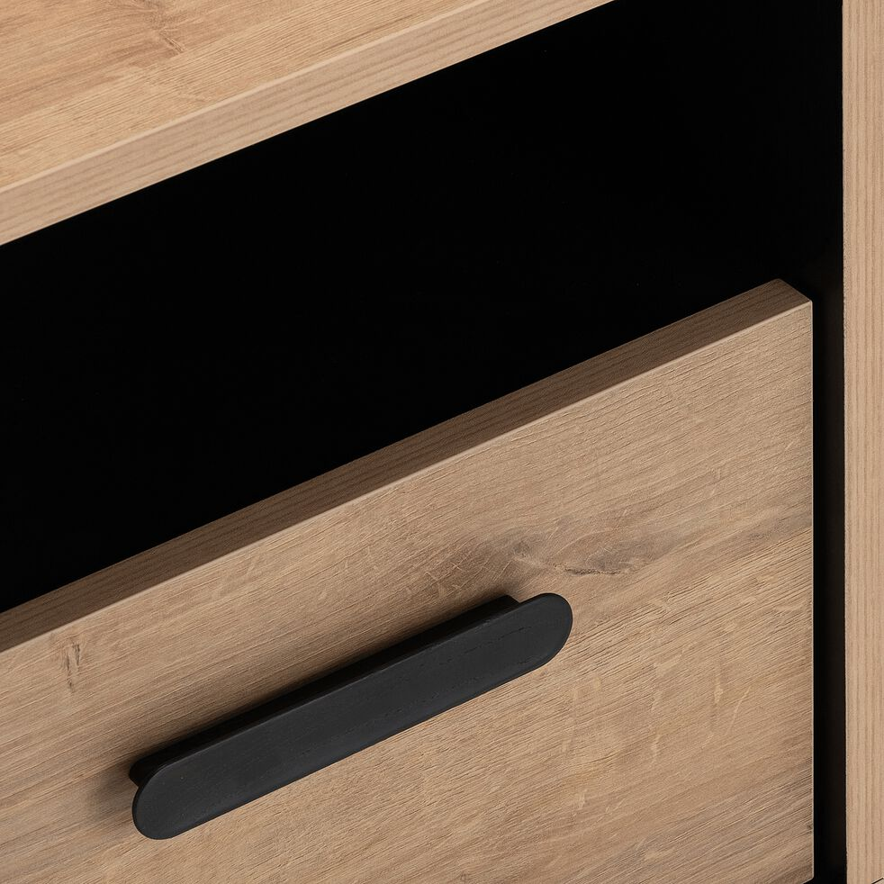 Table de chevet 1 tiroir - effet chêne-SALVA
