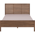 Lit 2 places avec tête de lit 140x200 cm-CRUZ