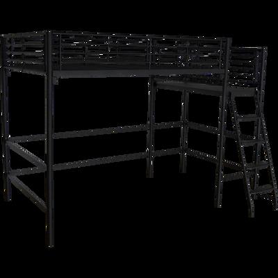 Lit mezzanine en acier Noir - Plusieurs tailles-ALEXY