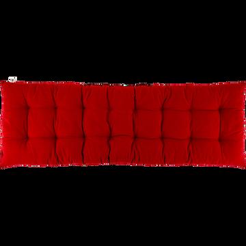 Coussin d'assise pour banc rouge sumac 120x40cm-EMILIE