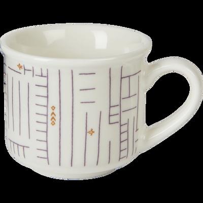 Tasse en porcelaine à motif 9cl-CAFI