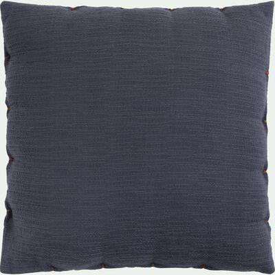 Coussin 40x40cm en coton bleu-ABYSSE