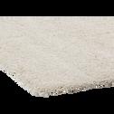 Tapis à poils longs blanc écru 160x230cm-Kris