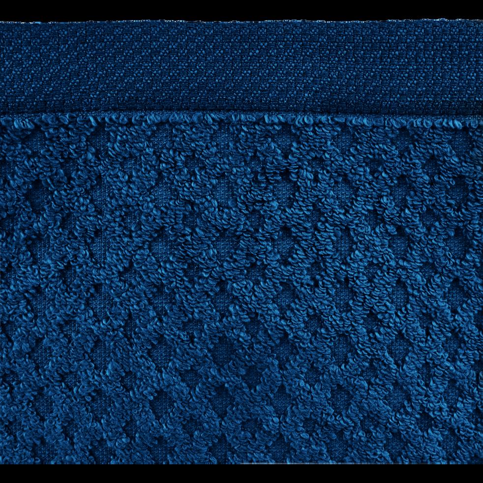 Serviette en coton 50x100cm bleu figuerolles-ETEL