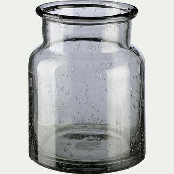 Vase en verre bullé - vert H13cm-IKARIA