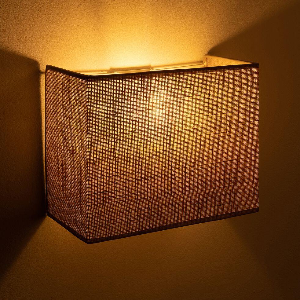 Applique non électrifiée en jute coloris naturel 20x24x12cm-ANDEL