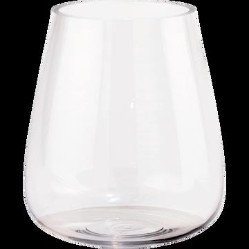 Vase obus en verre H18cm-BALAN