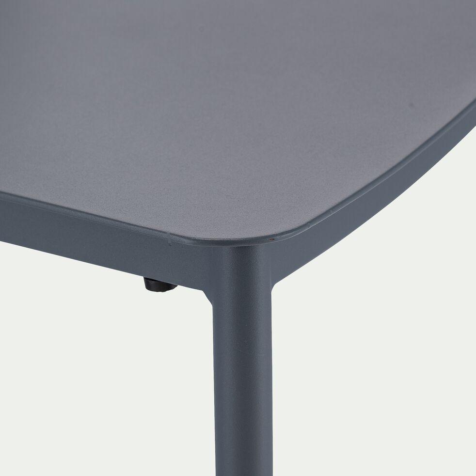 Chaise de jardin empilable en aluminium - bleu céou-TOMA