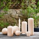8 bougies flambeaux beige roucas H18cm-HALBA