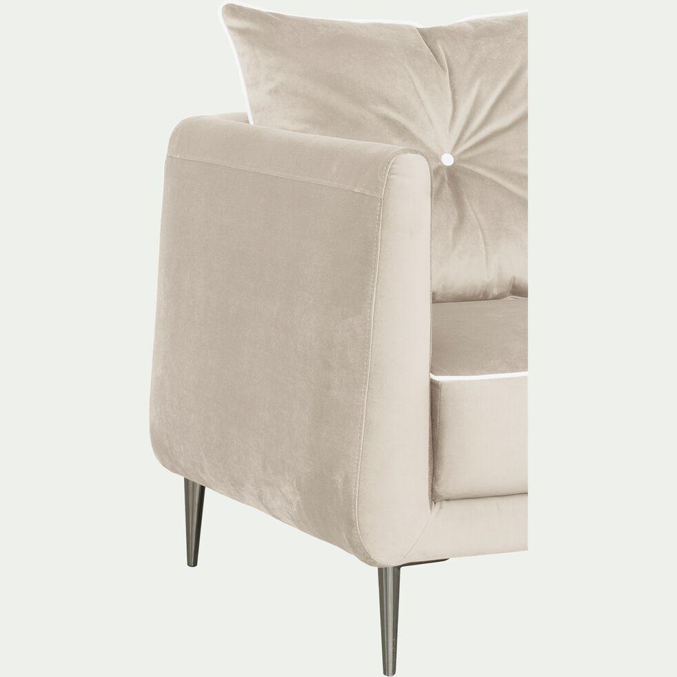 Canapé 3 places convertible en tissu - gris borie-ASTELLO